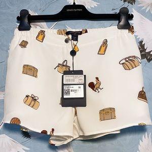 RARE Louis Vuitton Rooster White Silky Shorts NWT